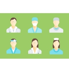 Doctors and Medical Staff Set vector