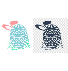 Easter icon in the form vector