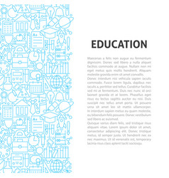 education line pattern concept vector image