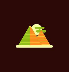 Egypt pyramids and sun vector