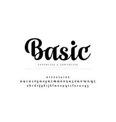 Elegant alphabet letters set classic custom vector