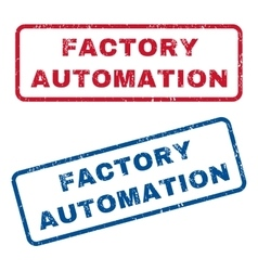 Factory Automation Rubber Stamps vector