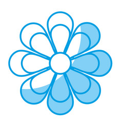 Flower blossom flat icon vector