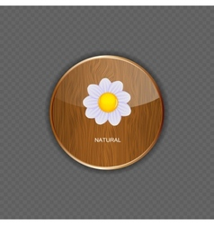 Flower wood application icons vector image