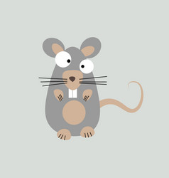 forest animal cute small gray mouse icon isolated vector image