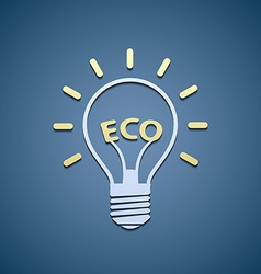 Icon bulb Ecological symbol vector