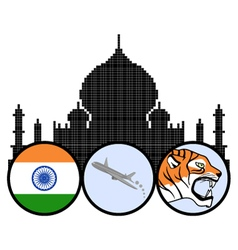 Indian travel vector image