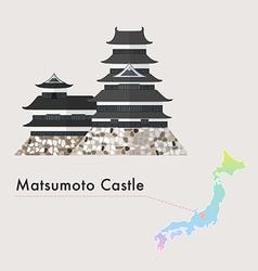 Japan castle matsumoto vector