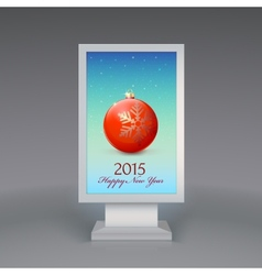 Lightbox with Christmas ball vector image