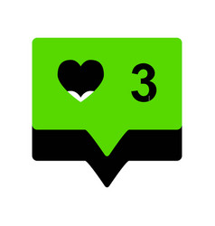 Like and comment sign green 3d icon with vector