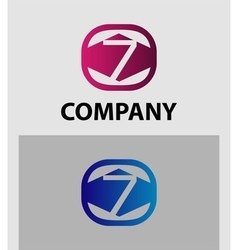 Logo icon design template elements The number 7 vector