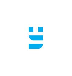 logo letter y blue stripes vector image