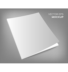 Magazine mockup on grey background vector