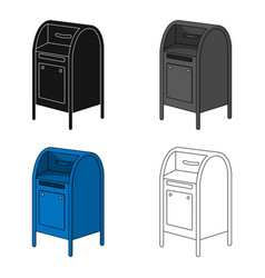 mailboxmail and postman single icon in cartoon vector image vector image