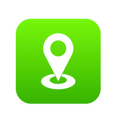 map pointer icon digital green vector image