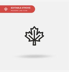 Maple leaf simple icon symbol vector