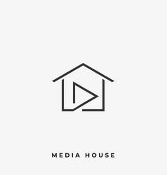 Media house template vector
