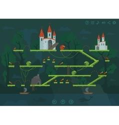 mobile platform game level interface design vector image