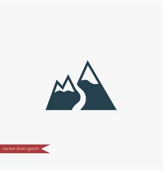 Mountain icon simple vector