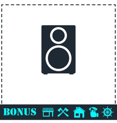 Music column icon flat vector