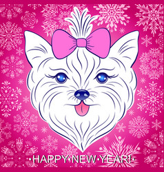 new year card vector image