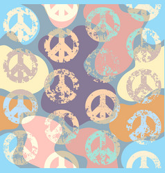 peace signs pattern vector image