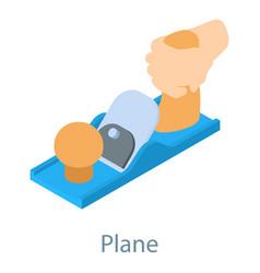 Plane tool icon isometric 3d style vector