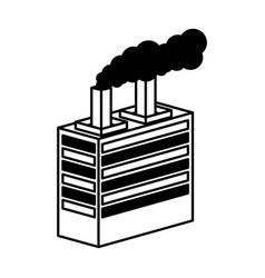 plant building isometric icon vector image