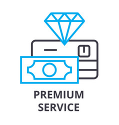 premium service thin line icon sign symbol vector image
