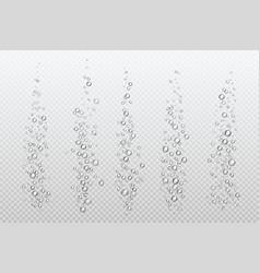 Realistic fizzing bubbles underwater carbonate vector