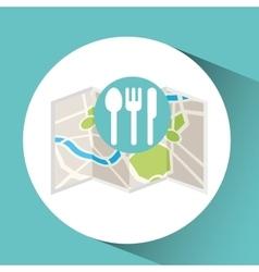 Restaurant map pin pointer design vector