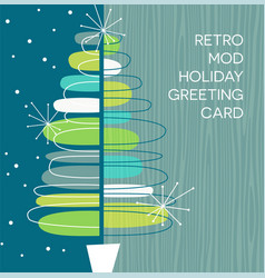 Retro abstract christmas tree design vector