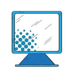 retro monitor screen icon vector image