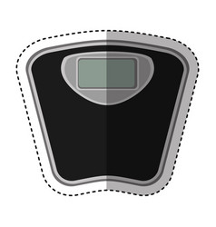 Scale balance digital icon vector
