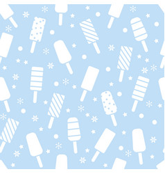seamless icecream pattern with popsicles vector image