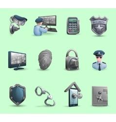 Security Symbols Icons Set vector