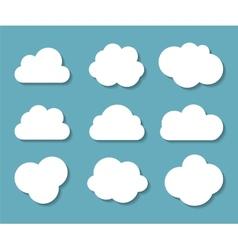 Set of Cloud Shaped Frames vector image