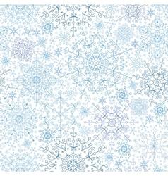 Snowflakes lace seamless patternWinterChristmas vector