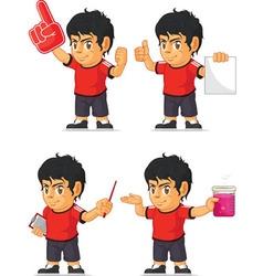 Soccer Boy Customizable Mascot 5 vector image