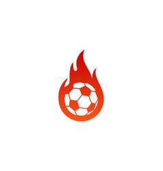 soccer fire logo icon design vector image