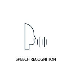 Speech recognition concept line icon simple vector