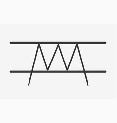 Triple top pattern flat icon vector