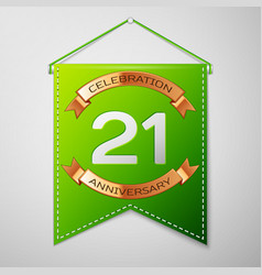 Twenty one years anniversary celebration design vector