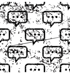Typing message pattern grunge monochrome vector image
