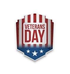Veterans day badge with text vector