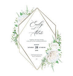 wedding elegant invite save date minimal card vector image