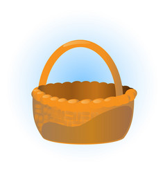 wicker basket vector image