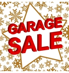 Winter sale poster with garage sale text vector