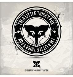 alternative fox stamp vector image vector image