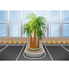 Car park facade vector image vector image